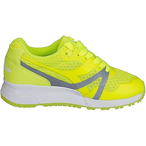 Diadora Damen Sneaker N9000 MM Bright Neon Gelb Neongelb
