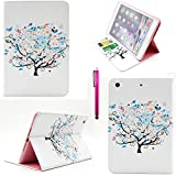 iPad Air 2 Case, Casemart Wallet Book Style Unique Flip PU Leather Folio Stand Cover Case [Perfect Fit] Slim [Card Holder] Stylish Cute Skin Case For Apple iPad Air 2 -Flower