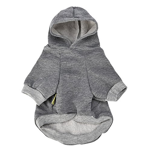 ng Small Pet Dog Clothes Fashion Costume Puppy Cotton Blend T-Shirt Apparel(L,Gray) ()