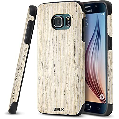 Galaxy S7 Edge Case, BELK [Air To Beat] Non Slip [Slim Matte] Wood Tactile Rubber Bumper [Ultra Light] Soft TPU Back Cover, Premium Smooth Wooden Shell Sales