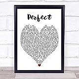 Perfect Ed Sheeran Quote Song Lyric Heart Print