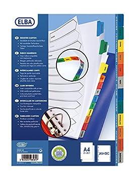 ELBA - Separador para archivadores, multicolor: Amazon.es: Oficina y papelería