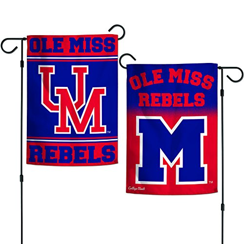 Elite Fan Shop Mississippi Ole Miss Rebels Garden Flag 12.5