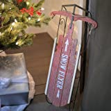 """Christmas Ltd 23.5"""" Red Holiday """"Snow Flyer"""" Decorative Sled"""