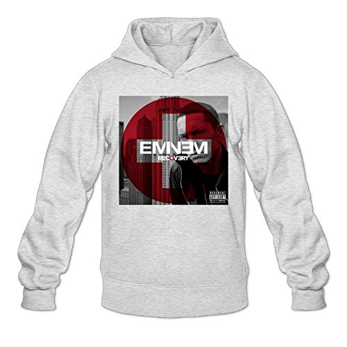 Rebecca Cool Eminem Recovery Men's Long Sleeve Hoodie L Ash