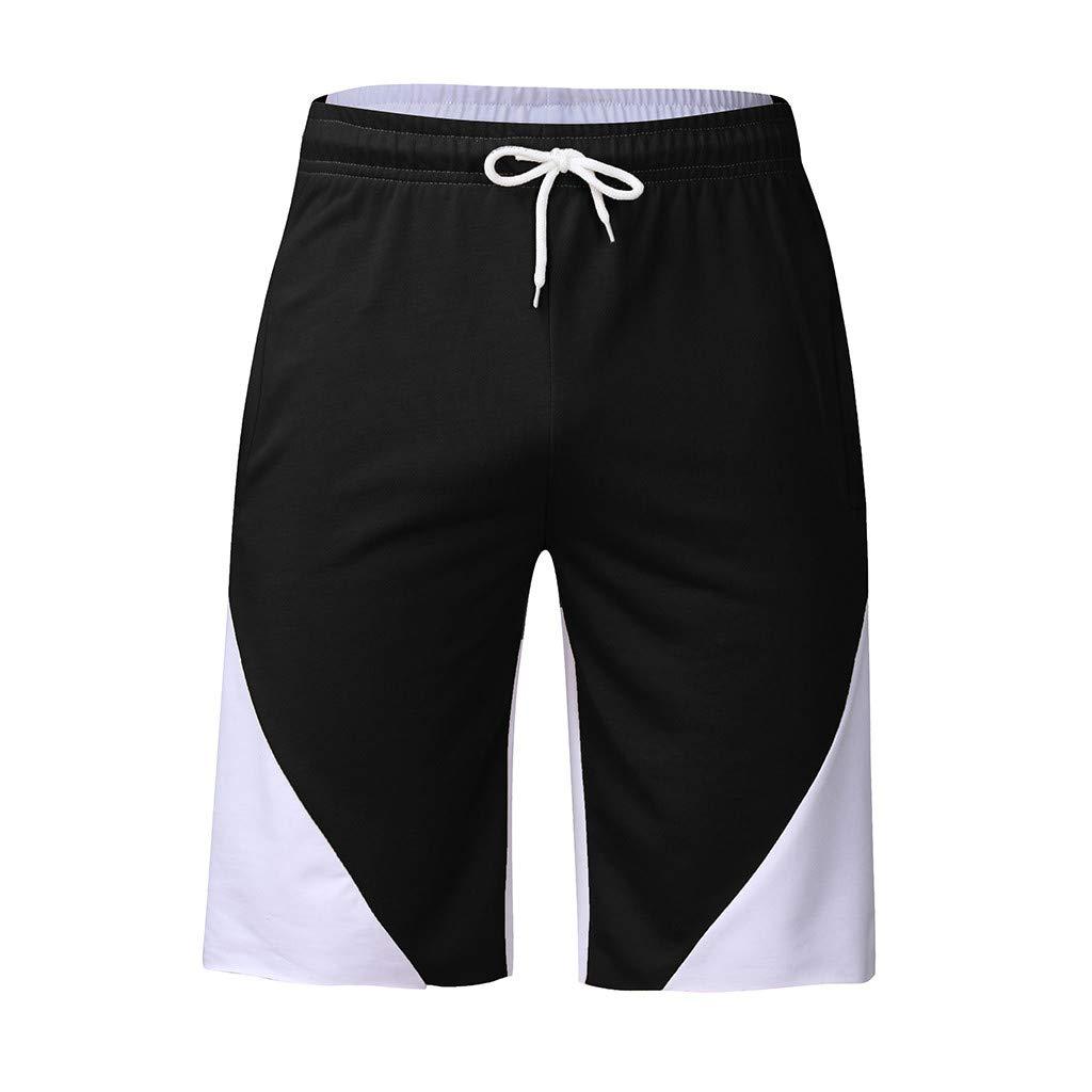 Alalaso Shorts for Men, Men's Joggers Casual Workout Shorts Running Shorts with Pockets Black