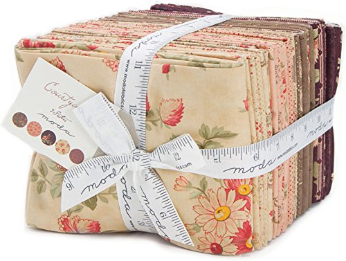 Courtyard Fat Quarter Bundle by 3 Sisters for Moda Fabrics, 44120AB