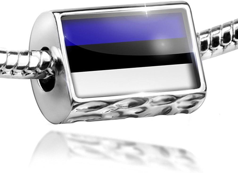 Flag of Bahamas Euro European Italian Style Bracelet Bead Charm