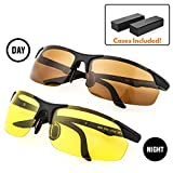 My Night Vision Glasses | 2pcs HD Anti-Glare Polarized Glasses | Yellow Lens for Night Vision & Copper Lens for Day Time Driving | Durable UV400 Protected Polarized Lenses | Case Included | 361.11