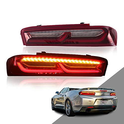 Chevrolet Camaro Tail - MOSTPLUS LED Red Clear Tail Lights For 2016 2017 2018 Chevrolet Camaro Chevy Rear Lamps w/Sequential Turn Light