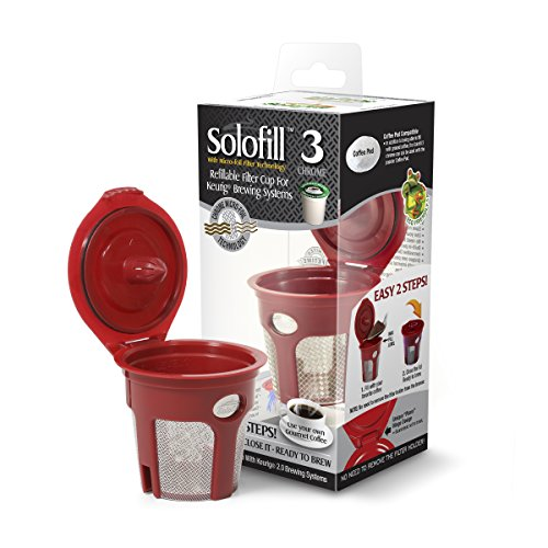SOLOFILL K3 CHROME CUP Chrome Refillable Filter Cup for Keurig Brewing  System, - Solofill Cup