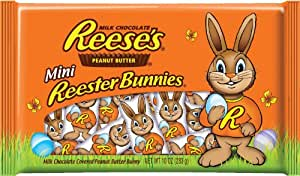 Reese's Easter Mini Peanut Butter Reester Bunnies, 10-Ounce Bags (Pack of 4)