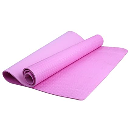 Bottone 4mm Thickness Yoga Mat Non-slip EVA Foam Yoga Pad,Dampproof Sleeping Mattress Mat,for Pilates,Fitness,Workout,Lose Weight Pink