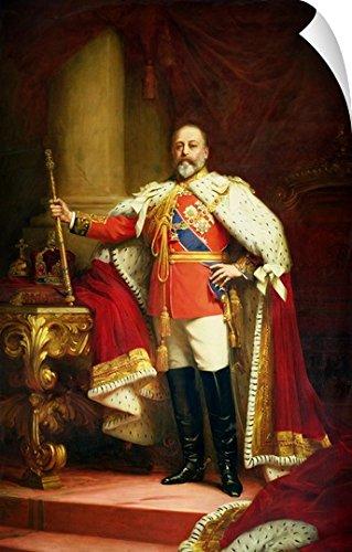 "Canvas on Demand Sir Samuel Luke Fildes Wall Peel Wall Art Print entitled King Edward VII, 1902 44""x72"""