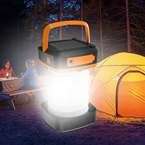 Price comparison product image Compact Solar Charging LED Camping Lantern Flashlight For Travel,  Camping Fishing - Sun Powered and USB Rechargeable