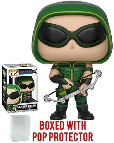 Funko Pop TV: Smallville - Green Arrow Vinyl Figure (Bundled with Pop Box Protector Case) (Arrow Smallville Green)
