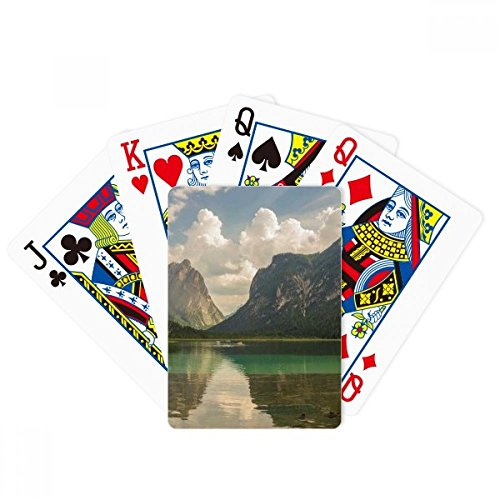 Lake Mountain Science Nature Scenery Poker Playing Card Tabletop Board Game Gift by beatChong