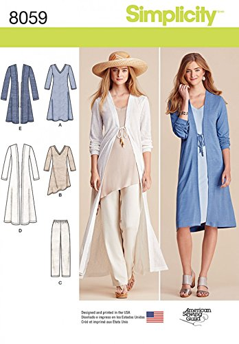 Amazon Simplicity Ladies Sewing Pattern 8059 Tunic Tops Long