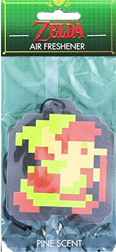 JUST FUNKY The Legend of Zelda Air Freshener Retro Link Twilight Princess 25th Anniversary 8-Bit Air Freshener Pine -
