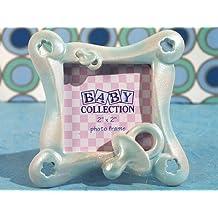 144PC CC1718 Little Blue Pacifier Photo Frame Wedding Favors & Accessories