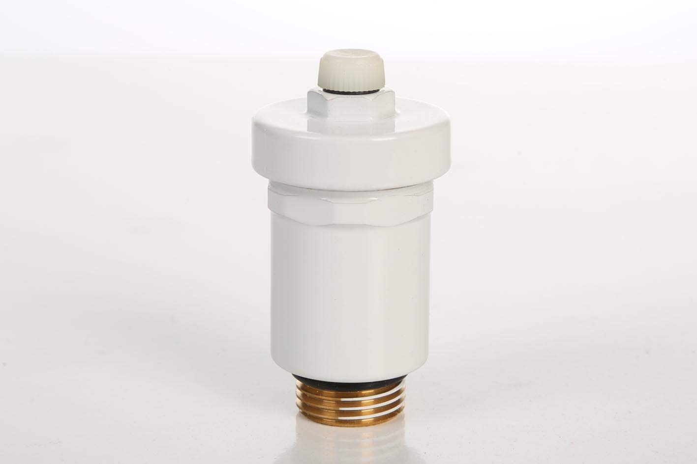 1//2 V/álvula de purga r/ápida autom/ática dise/ño blanco