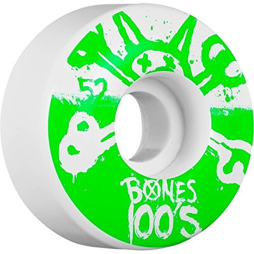 月面聴覚障害者船上Bones Wheels 100s Original Natural Skateboard Wheels - 52mm 100a (Set of 4) by Bones Wheels
