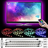 L8star 2M/6.56ft 5050 RGB Color Changing for 40 to 60in Bias App Control, USB Light Strip for TV LED Backlight