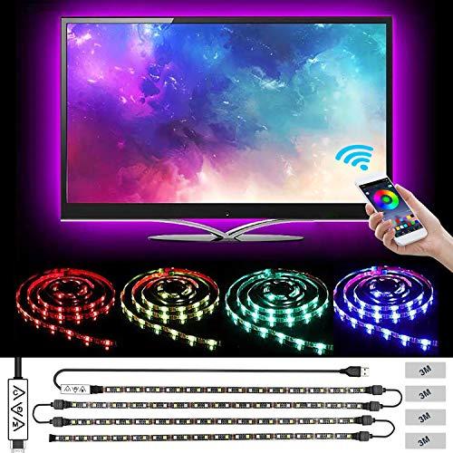 LED Strip Lights,L8star 2M/6.56ft 5050 RGB LED Light Strip Color Changing for 40 to 60in TV Lights Bias Lighting for TV Backlight with App Control, USB LED Light Strip for TV LED Backlight