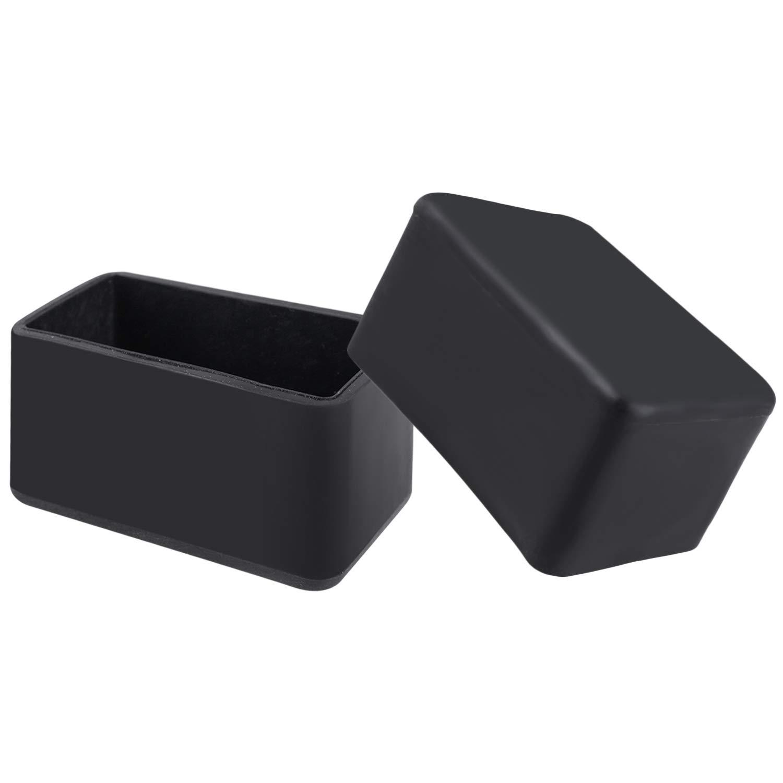 10 pcs Chair Leg Floor Protectors Chair Leg Caps 20 X 40mm Inside Diameter Rectangle Table Chair Feet Protectors, Black by flms love home (Image #4)