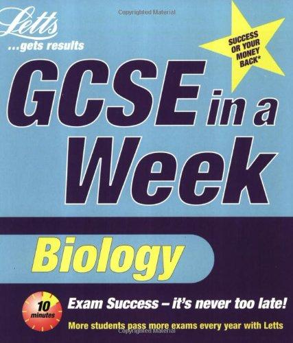 Read Online GCSE in a Week: Biology (Revise GCSE in a Week) PDF ePub fb2 book