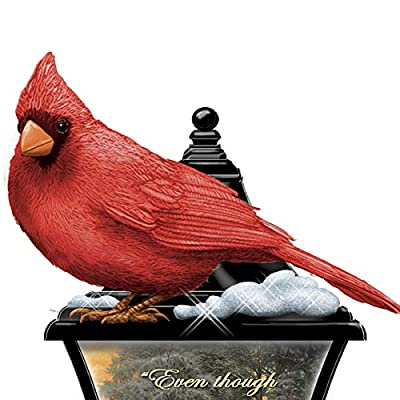 The Hamilton Collection Thomas Kinkade Your Spirit Lives Forever in My Heart Sculpted Cardinal Lantern