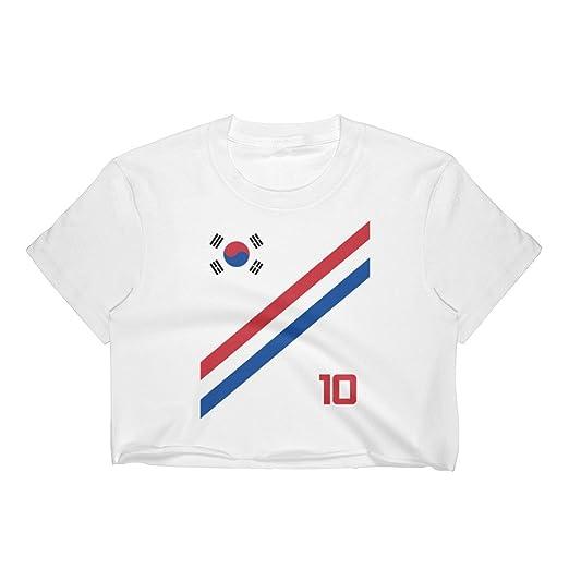 Amazon Com South Korea World Cup Soccer Crop Top Short Sleeve