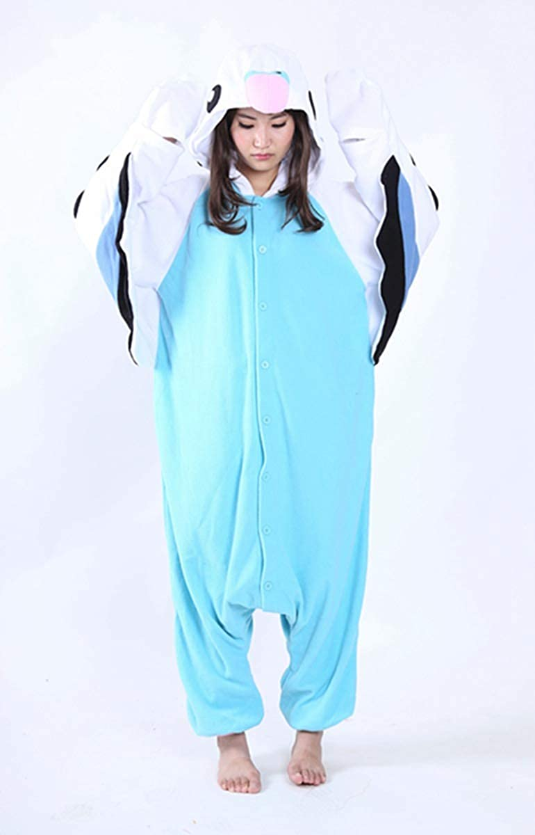 Pappagallo Blu Kigurumi Pigiama Unisex per Adulti Bambini Animale Cosplay