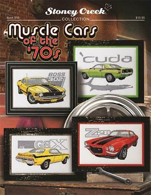 Muscle Cars of The 70s (Book 516) Cross Stitch Chart (Best 1970s Muscle Cars)