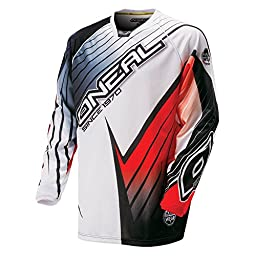 O\'Neal HW Race Flow Jersey (White/Black/Red, Small)