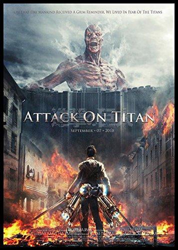 Attack On Titan Póster de película imán para nevera Anime ...