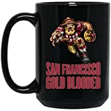 49er coffee cup - San Francisco 49ers Coffee Mug   49ers Mug   Gold Blooded Text Player   15 oz Ceramic Coffee Mug Cup Great For Tea & Hot Chocolate   NFL NFC Football   Perfect Unique Gift Idea For Any SF 49er Fan