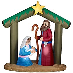 Gemmy Plush Holy Family Nativity Scene Inflatable Christmas...