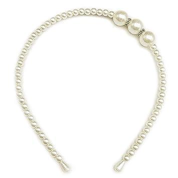 Amazon.com: XINGZHE - Diadema de perlas sintéticas para ...