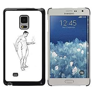 Be Good Phone Accessory // Dura Cáscara cubierta Protectora Caso Carcasa Funda de Protección para Samsung Galaxy Mega 5.8 9150 9152 // Nude Man Body Pencil Art Drawing Masculine