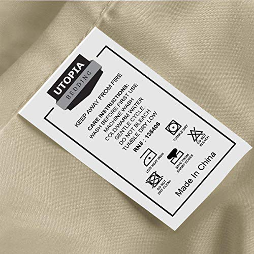 Utopia Bedding smooth cleaned Microfiber sheet Pillowcase Sets