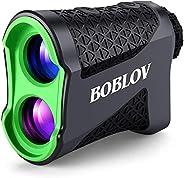 BOBLOV Golf Range Finder, Slope Golf Rangefinder, 650Yards Flaglocking Rangefinder with Pinsensor Vibration, S