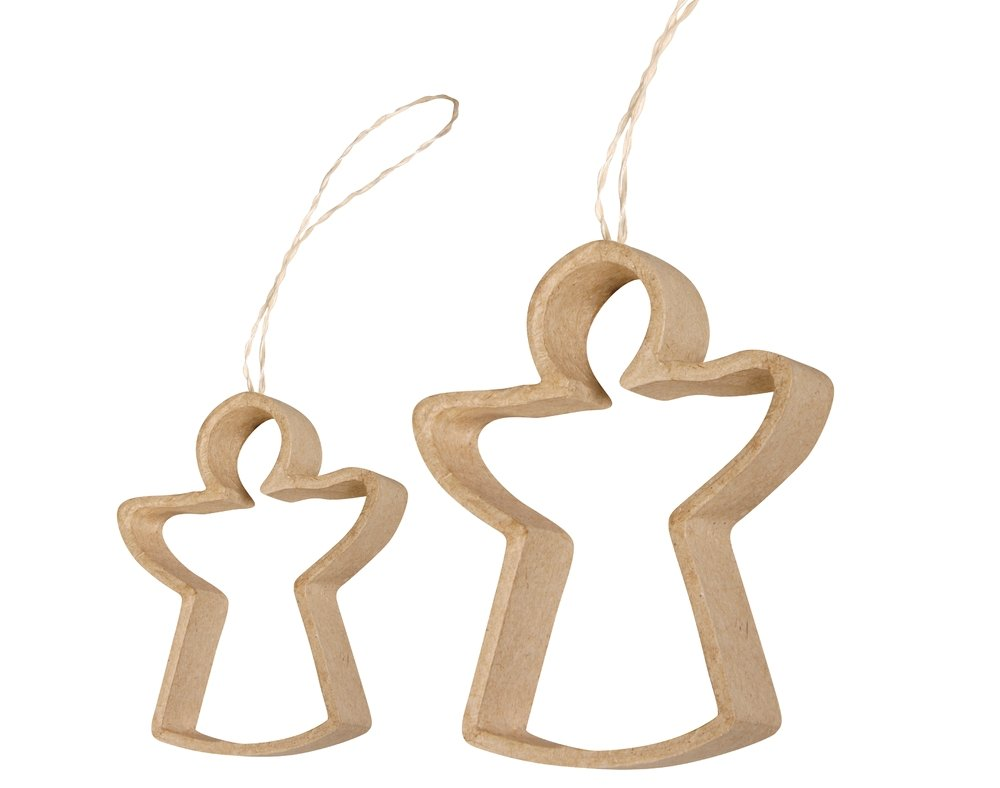2 Pappmaché Angel Bilderrahmen für Weihnachten Quilling &Crafts ...