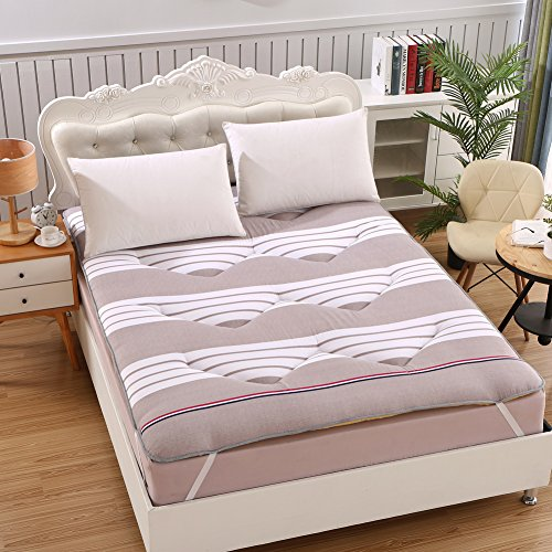 HYXL Thick floor mat Mattress Tatami mats Japanese futon mattress,Floor mattress Comfortable floor futon mat Single double student dormitory-A 90x200cm(35x79inch) by HYXL