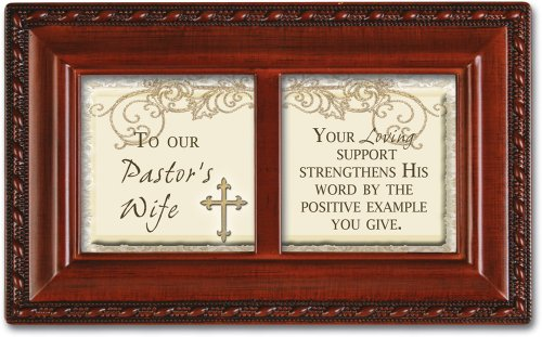 Cottage Garden To Pastor Wife Positive Example Woodgrain Petite Music Box Plays Amazing Grace
