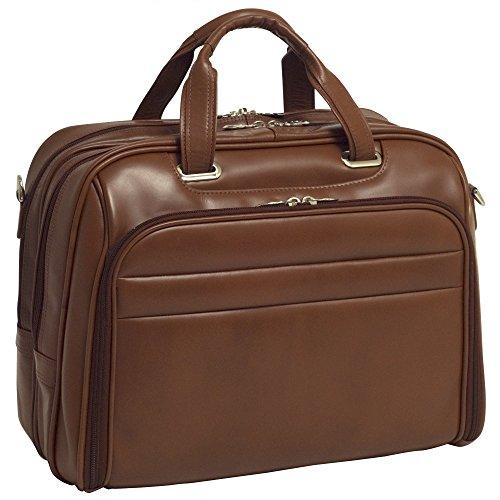 Grain Leather Briefcase Friendly Computer - McKleinUSA R Series, Springfield, Top Grain Cowhide Leather, 15