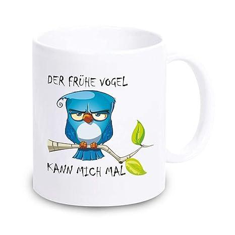 Lustige Kaffee Tasseder Frühe Vogel Kann Mich Mal Witzige Tasse Für Büro Spruch Motiv Beidseitig Büro Kaffee Becher Mug Lieblingstasse
