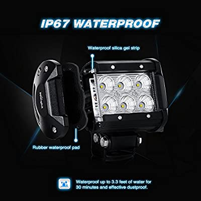 "Nilight 20PCS 18W 4"" Flood Led Light Bars Driving Fog Light Off Road Lights Boat Lights Driving Lights Led Work Lights SUV Jeep Lamps, 2 Years Warranty: Automotive"