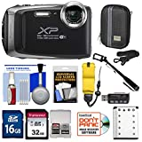 Fujifilm FinePix XP130 Shock & Waterproof Wi-Fi Digital Camera (Silver) with 32GB Card + Battery + Cases + Float Strap + Selfie Stick + Kit