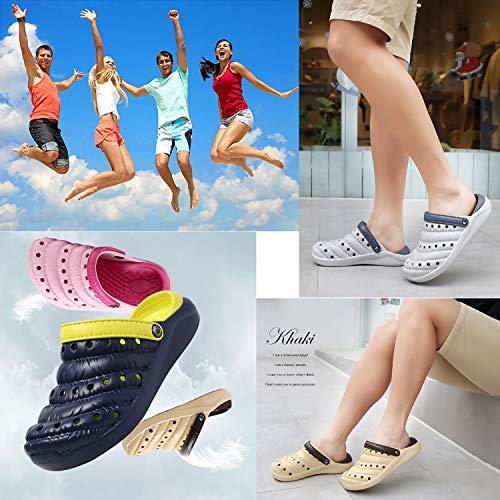 debb4058e44 Verano tallas Zuecos De Adulto Jardín Goma 35 Playa chanclas zapato Marrón  44 Piscina Zapatillas Unisex wwqzBAg